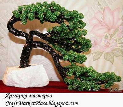 дерево из бисера схемы.